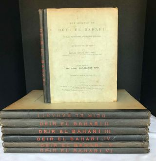 Deir el-Bahari, complete set of 7 volumes: Introduction volume: its plan, its founders and its...[newline]M1197d.jpg