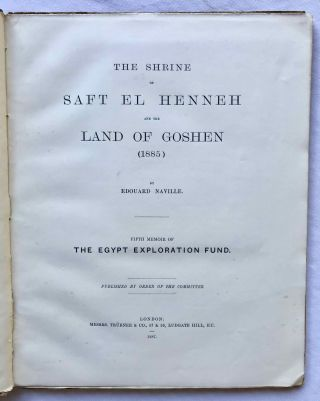 Goshen and The shrine of Saft el-Henneh. 1885.[newline]M1202c-02.jpg