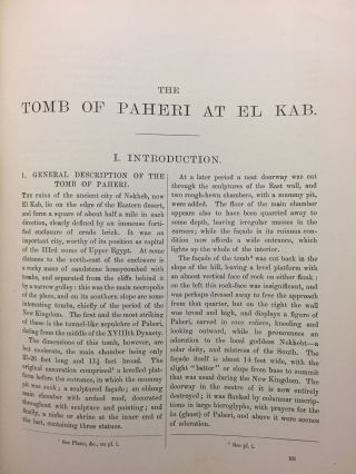 Ahnas el-Medineh and The tomb of Paheri at El-Kab. With chapters on Mendes, the nome of Thoth and Leontopolis by Edouard Naville. And appendix on Byzantine sculptures by Professor T. Hayter Lewis[newline]M1207a-11.jpg