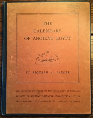 The calendars of Ancient Egypt. PARKER Richard A[newline]M1231b.jpg