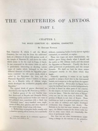 The cemeteries of Abydos. Part I: The mixed cemetery and Umm el-Ga'ab. Part II: 1911-1912. Part III: 1912-1913. (complete set)[newline]M1245b-06.jpg
