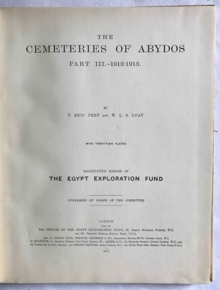 The cemeteries of Abydos. Part I: The mixed cemetery and Umm el-Ga'ab. Part II: 1911-1912. Part III: 1912-1913. (complete set)[newline]M1245b-21.jpg