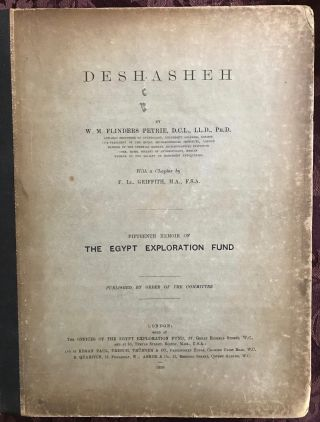 Deshasheh. With a chapter by F.LL. Griffith. PETRIE William M. Flinders[newline]M1274a.jpg