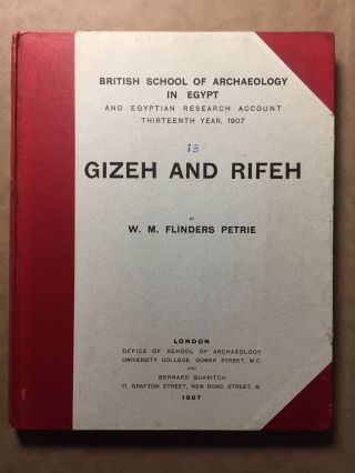 Gizeh and Rifeh. PETRIE William M. Flinders.[newline]M1284d.jpg