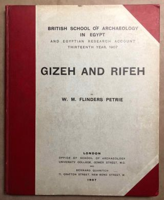 Gizeh and Rifeh. PETRIE William M. Flinders[newline]M1284e.jpg