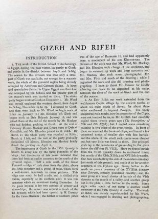 Gizeh and Rifeh. Double volume.[newline]M1284f-05.jpg
