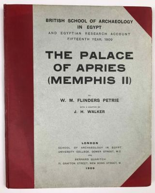 Memphis II. The Palace of Apries. with PETRIE William M. Flinders, WAINWRIGHT G. A. - GARDINER A....[newline]M1294j-00.jpeg