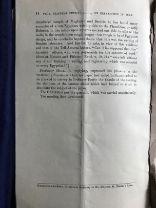 Researches in Sinai: conference paper on Petrie's book, author's copy.[newline]M1304b-06.jpg