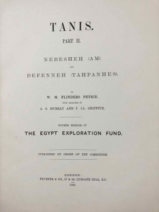 Tanis. Part I. 1883-4. Part II: Tanis II & Nebesheh (Am) and Defenneh (Tahpanhes) (complete set)[newline]M1311c-17.jpg
