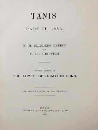 Tanis. Part I. 1883-4. Part II: Tanis II & Nebesheh (Am) and Defenneh (Tahpanhes) (complete set)[newline]M1311c-18.jpg
