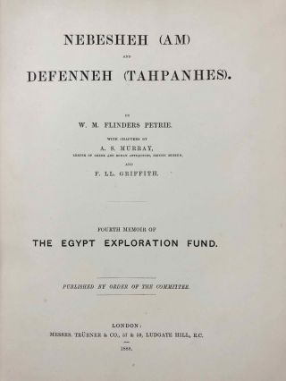 Tanis. Part I. 1883-4. Part II: Tanis II & Nebesheh (Am) and Defenneh (Tahpanhes) (complete set)[newline]M1311c-22.jpg