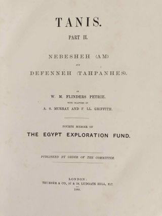 Tanis. Part I. 1883-4. Part II: Tanis II & Nebesheh (Am) and Defenneh (Tahpanhes) (complete set)[newline]M1311d-21.jpg