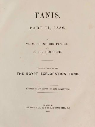Tanis. Part I. 1883-4. Part II: Tanis II & Nebesheh (Am) and Defenneh (Tahpanhes) (complete set)[newline]M1311d-22.jpg