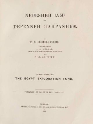 Tanis. Part I. 1883-4. Part II: Tanis II & Nebesheh (Am) and Defenneh (Tahpanhes) (complete set)[newline]M1311d-26.jpg