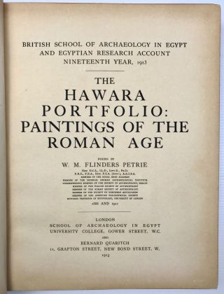 The Hawara portfolio: paintings of the Roman Age. Found by W.M. Flinders Petrie - 1888 and 1911[newline]M1319a-03.jpg