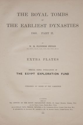 The royal tombs of the First dynasty. Part I & II (complete set) + rare supplement of 35 extra-plates[newline]M1324b-17.jpg