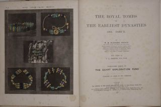 The royal tombs of the First dynasty. Part I & II (complete set) + rare supplement of 35 extra-plates. With chapter by F.Ll. Griffith. PETRIE William M. Flinders.[newline]M1324b.jpg
