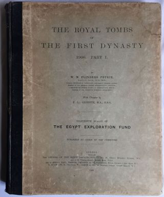 The royal tombs of the First dynasty. Part I & II (complete set). With chapter by F.Ll. Griffith[newline]M1324d-01.jpg