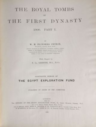 The royal tombs of the First dynasty. Part I & II (complete set). With chapter by F.Ll. Griffith[newline]M1324d-04.jpg
