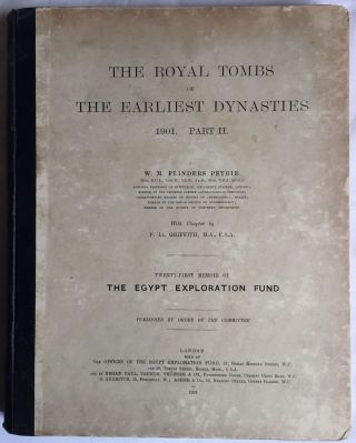 The royal tombs of the First dynasty. Part I & II (complete set). With chapter by F.Ll. Griffith[newline]M1324d-20.jpg