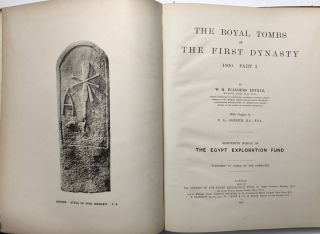 The royal tombs of the First dynasty. Part I & II (complete set)[newline]M1324h-04.jpg