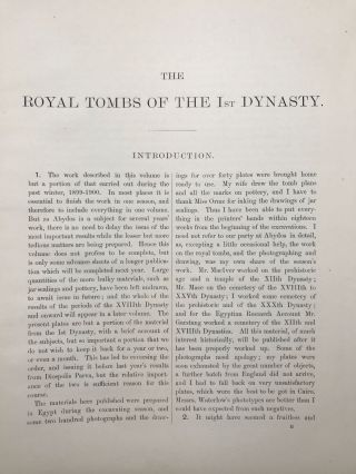 The royal tombs of the First dynasty. Part I & II (complete set)[newline]M1324h-06.jpg