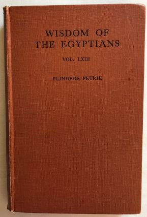 Wisdom of the Egyptians. PETRIE William M. Flinders[newline]M1326a.jpg