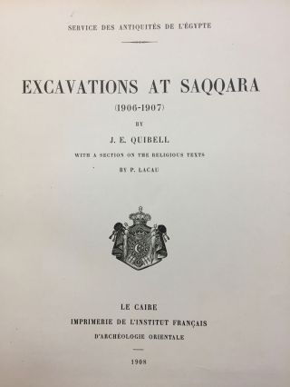 Excavations at Saqqara (1906-1907). With a section on the religious texts by P. Lacau[newline]M1390a-02.jpg