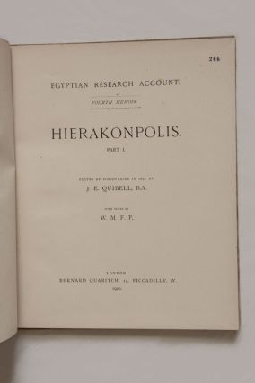 Hierakonpolis. Part I & II (complete set). Plates of discovery in 1898. With notes by W.M.F.P.[newline]M1393-02.jpg