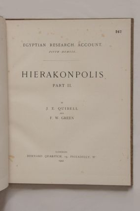 Hierakonpolis. Part I & II (complete set). Plates of discovery in 1898. With notes by W.M.F.P.[newline]M1393-04.jpg
