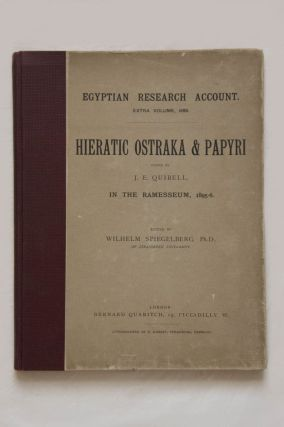 Hieratic ostraka and papyri found by J.E. QUIBELL in the Ramesseum. QUIBELL James Edward -...[newline]M1399a.jpg