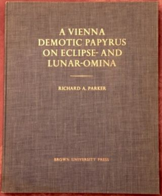A Vienna Demotic Papyrus on Eclipse- and Lunar-Omina. Edited with translation and commentary....[newline]M1639.jpg
