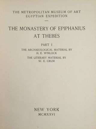 The monastery of Epiphanius at Thebes. Vol. I & II (complete set)[newline]M1748-02.jpg