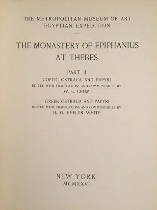 The monastery of Epiphanius at Thebes. Vol. I & II (complete set)[newline]M1748-23.jpg