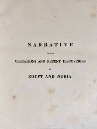 Narrative of the Operations and Recent Discoveries within the Pyramids, Temples, Tombs, and Excavations, in Egypt and Nubia; and of a Journey to the Coast of the Red Sea, in Search of the Ancient Berenice; and Another to the Oasis of Jupiter Ammon, with Plates illustrative of the researches and operations of G. Belzoni in Egypt and Nubia.[newline]M1874a-06.jpeg