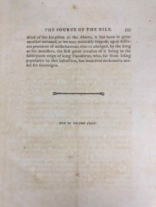 Travels to Discover the Source of the Nile, in the Years 1768, 1769, 1770, 1771, 1772, & 1773 (5 volumes, complete set)[newline]M1913-021.jpg