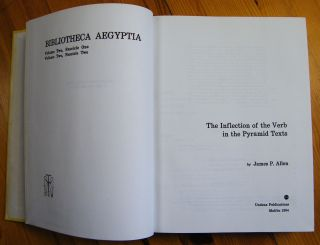 The inflection of the Verb in the Pyramid Texts[newline]M1985-01.jpg