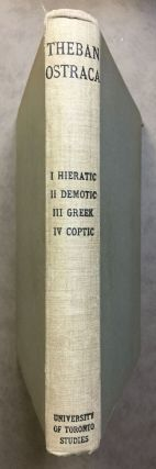 Theban Ostraca. Part I: Hieratic Texts, by Allan H. Gardiner. Part II: Demotic texts, by Herbert...[newline]M2069a.jpg