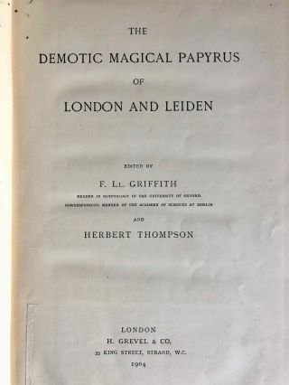 The Demotic Magical Papyrus of London and Leiden. Vol. I[newline]M2087b-03.jpg