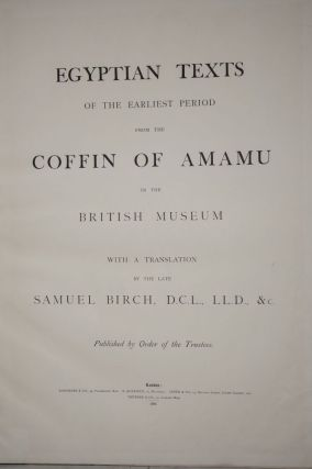 Egyptian Texts of the Earliest Period from the Coffin of Amamu in the British Museum[newline]M2227-03.jpg