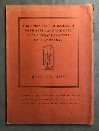 The Coregency of Ramses II with Seti I and the Date of the Great Hypostyle Hall at Karnak. SEELE Keith C.[newline]M2326b.jpg