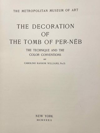 The Decoration of the Tomb of Per-Neb. The technique and the color conventions.[newline]M2381b-05.jpeg