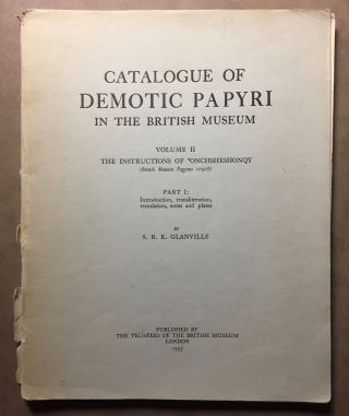 Catalogue of Demotic Papyri in the British Museum. Vol. II: The instructions of 'Onkhsheshonqy...[newline]M2405b.jpg