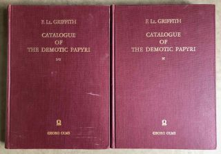 Catalogue of the demotic papyri in the John Rylands Library in Manchester. Vol. I: Atlas of Facsimiles. Vol. II: Hand-Copies of the ealier documents (Nos. I-IX). Vol. III: Key-list, translations, commentaries and indices (complete set)[newline]M2430-01.jpeg