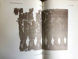 Catalogue of the demotic papyri in the John Rylands Library in Manchester. Vol. I: Atlas of Facsimiles. Vol. II: Hand-Copies of the ealier documents (Nos. I-IX). Vol. III: Key-list, translations, commentaries and indices (complete set)[newline]M2430-06.jpeg