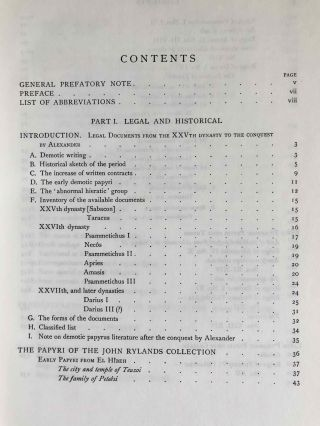 Catalogue of the demotic papyri in the John Rylands Library in Manchester. Vol. I: Atlas of Facsimiles. Vol. II: Hand-Copies of the ealier documents (Nos. I-IX). Vol. III: Key-list, translations, commentaries and indices (complete set)[newline]M2430-17.jpeg