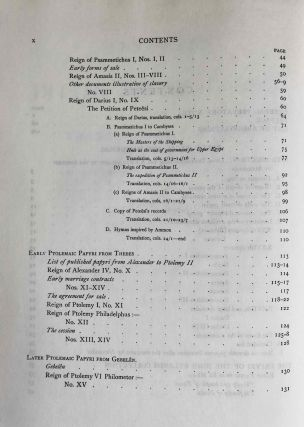 Catalogue of the demotic papyri in the John Rylands Library in Manchester. Vol. I: Atlas of Facsimiles. Vol. II: Hand-Copies of the ealier documents (Nos. I-IX). Vol. III: Key-list, translations, commentaries and indices (complete set)[newline]M2430-18.jpeg