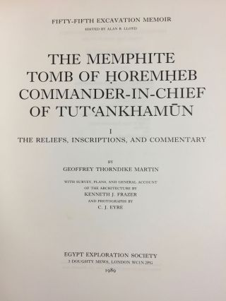 The Memphite Tomb of Horemheb commander-in-chief of Tut'ankhamun. Part I: The reliefs, inscriptions, and commentary.[newline]M2538a-03.jpg