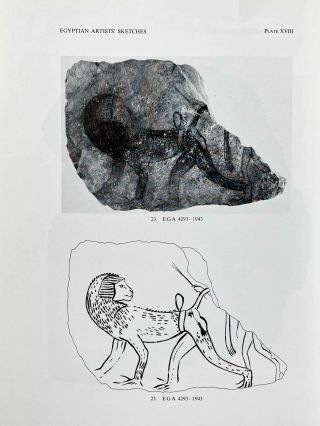 Egyptian Artists' Sketches. Figured ostraka from the Gayer-Anderson Collection in the Fitzwilliam Museum, Cambridge.[newline]M2586b-09.jpeg