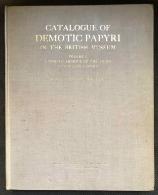 Catalogue of Demotic Papyri in the British Museum. Vol. I: A Theban Archive of the Reign of...[newline]M2599a.jpg